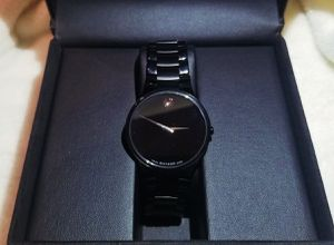 "MOVADO BLACK ""SERIO"" CRYSTAL BRACELET WATCH for Sale in Ashburn, VA"