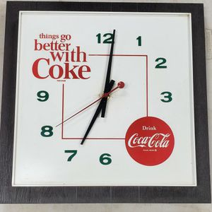 Drink Coca Cola Thing Go Better With Coke Advertising Clock for Sale in Arlington, VA