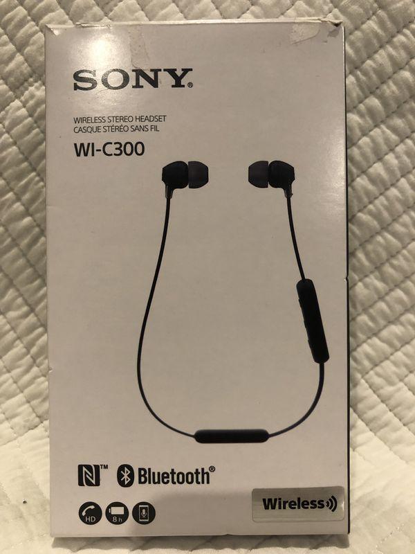 Sony Bluetooth WI-C300 headphones