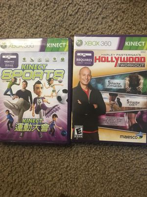 Kinect sports and holywood workout xbox 360 games for Sale in Seattle, WA