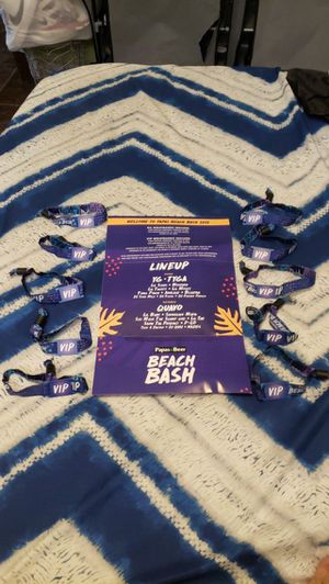 10 VIP tickets to papas and Beeer beach bash September 20th & 21st for Sale in Downey, CA
