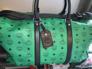 MCM Nwts Visetos Lrg Paradise Green Wknd Bag for Sale in Orlando, FL