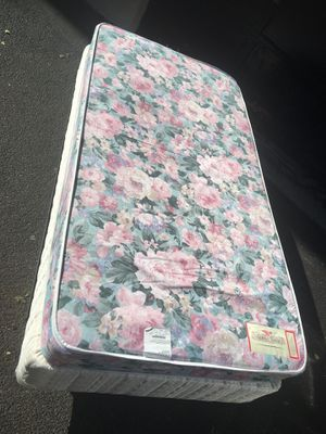 TWIN Mattress & Boxspring With Frame NOT NEW for Sale in St. Louis, MO