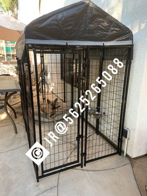 Large welded wire steel dog kennel cage jaula new for Sale in San Bernardino, CA