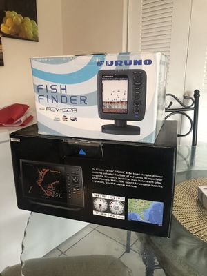 Garmin one is a combo gps sonar furuno just fish finder they are both almost new as you can see 900 dollars obo.garmin es un combo el furuno es solo for Sale in Tampa, FL