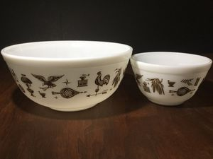"1960's PYREX ""EARLY AMERICAN"" PATTERN NESTING MIXING BOWLS for Sale in Ocoee, FL"