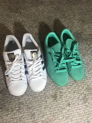 Adidas and Green Pumas for Sale in Cleveland, OH