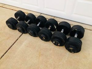 Dumbbells - Rubber Dumbbells - Gym Equipment - Weights - Barbell - Work Out for Sale in Downers Grove, IL