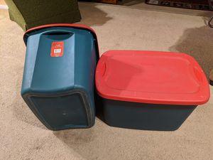 Set of 2 18 gallon Sterilite storage containers for Sale in Norwalk, CA