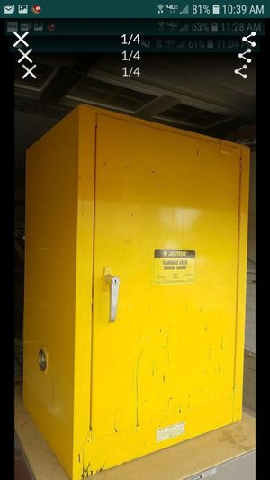 Justrite flammable cabinet 12 gallon self closing painter gas more was over $600 for Sale in Tracy, CA