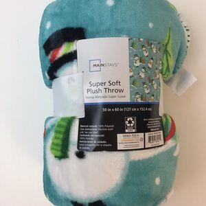 Snowman Fleece Throw Blanket *new for Sale in Everett, WA