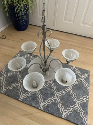 Great chandelier, entry or dining room, excellent condition, 6 light plus center for Sale in Tacoma, WA