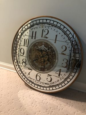 French Inspired mirrored Wall Clock for Sale in Wayne, IL