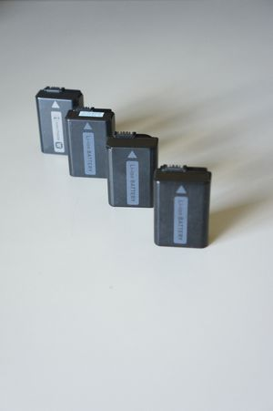 Four (4x) off brand rechargeable batteries for Sony a6000 a6300 a6300 a6500 a6100 nex rx10 mark I II III IV A7 A7s A7R A7SII A7RII for Sale in Bellevue, WA