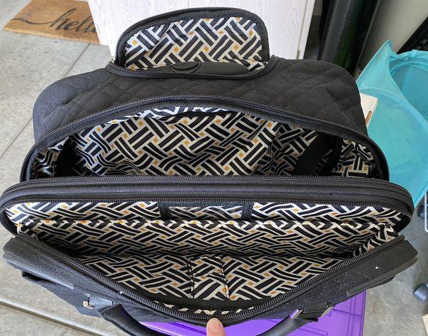 Vera Bradley Rolling Work Bag.
