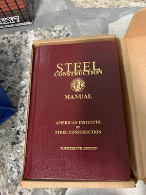 Steel construction Manual book for Sale in Fontana, CA