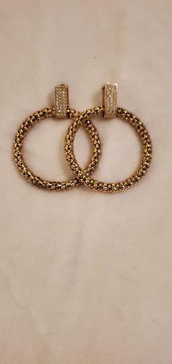 Hoop Earrings W/ Diamond Accent. for Sale in Pensacola,  FL