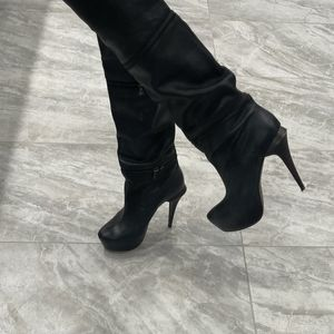Vero Cuoio leather over knee heels boots 38/8.5 for Sale in Buffalo Grove, IL
