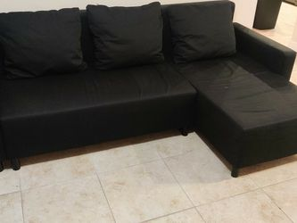 Ikea Black Sofa Bed for Sale in Miami,  FL