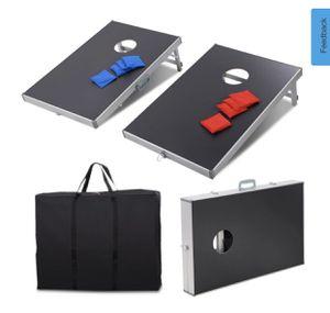 New Foldable Bean Bag Toss Cornhole Game Set Boards Tailgate Regulation Baggo for Sale in Hacienda Heights, CA