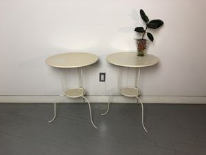 White Round Tables with Shelves for Sale in New York, NY