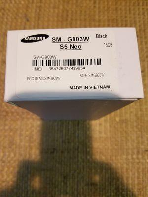 Samsung Galaxy s5 NEO unlocked black for Sale in Gaithersburg, MD