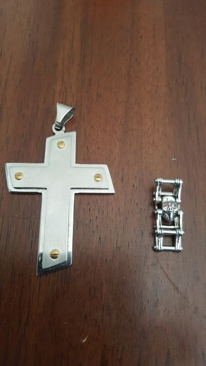 Stainless Steel Cross & Ring $20 for Sale in Tampa, FL
