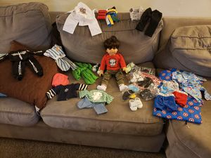 18inch boy doll and accessories for Sale in Peotone, IL