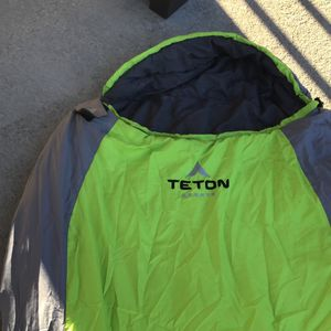 Teton Lime Green And Grey Sleeping Bag for Sale in Escondido, CA