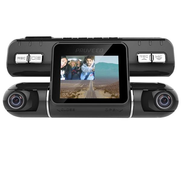 Pruveeo MX2 Dash Cam Front and Rear Dual Camera with Driving Recorder DVR