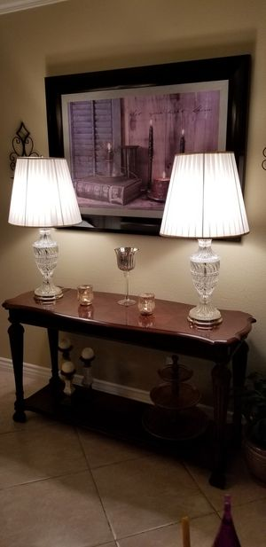 """BEAUTIFUL CRYSTAL LAMPS!! 31"""" TALL! for Sale in Rancho Cucamonga, CA"""