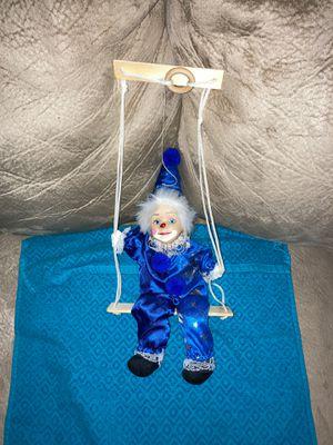 "Dekorationsartikel Kein Spielzeug Puppet Clown Hanging Doll 10"" Germany for Sale in Midlothian, VA"