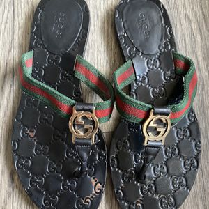 Authentic Gucci GG Thong Sandals 7.5 37.5 for Sale in Atlanta, GA