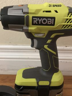 """Ryobi 1/2"""" Impact Wrench w/ Battery and Charger for Sale in Los Angeles,  CA"""