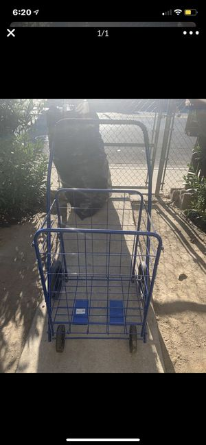 Blue pull and push cart for Sale in Reedley, CA