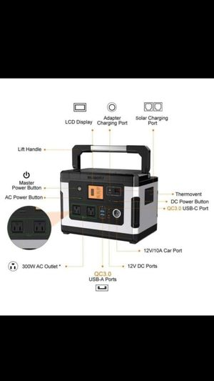 Suaoki G500. Solar generator 500 watts for Sale in Downey, CA