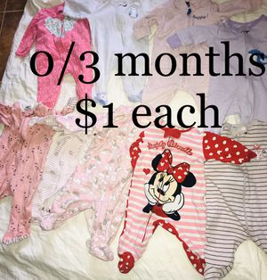 Used baby clothing 0/3 months for Sale in Kennewick, WA