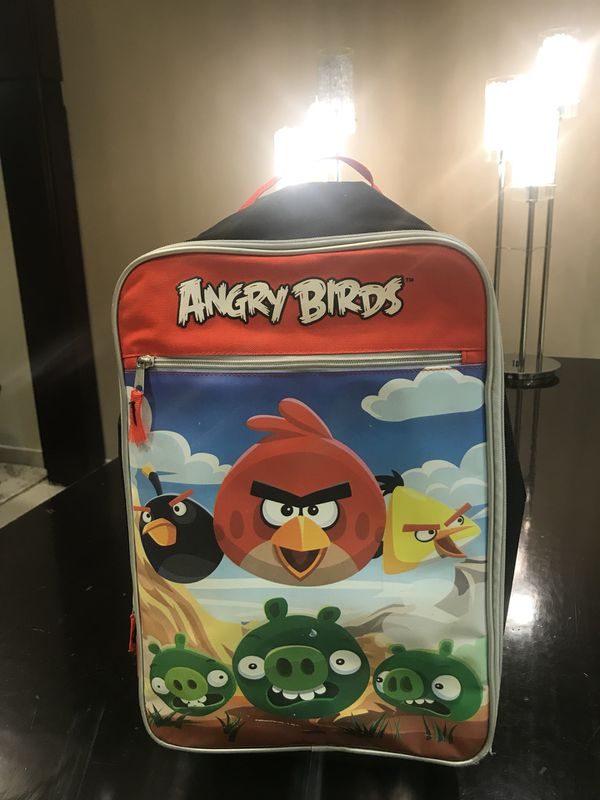 Angry birds rolling suitcase NWT