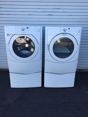 Maytag washer and dryer set electric, in good condition everything works very well clean and pleasant one month warranty free delivery for Sale in Tempe, AZ