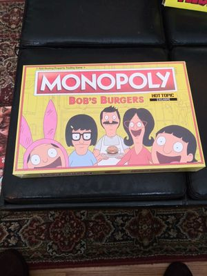 Bob's Burgers Monopoly Game board for Sale in Germantown, MD