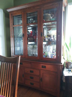 China cabinet table and 4 chairs for Sale in Fullerton, CA