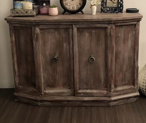Distressed rustic wood storage cabinet for Sale in New York, NY