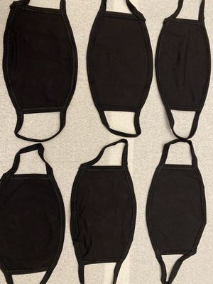Face mask bulk 20 pack black double layer cotton for Sale in Colton, CA