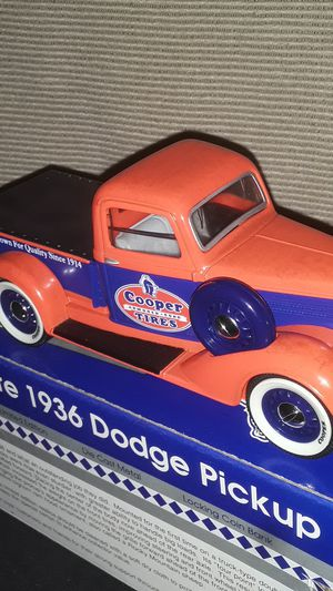 RARE COOPER TIRES 1936 DODGE PICK UP TRUCK 1:25 SCALE NEW IN ORIGINAL BOX for Sale in Providence, RI