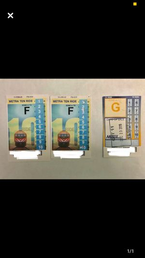 Metra pass A to F and A to G for Sale in Buffalo Grove, IL