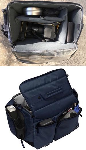New in box $12 each cross body Navy or Dark Red Professional SLR Camera Bag cushioned for Sale in Los Angeles, CA