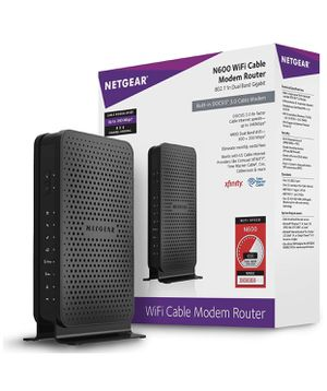 NETGEAR N600 (8x4) WiFi DOCSIS 3.0 Cable Modem Router (C3700) Certified for Xfinity from Comcast, Spectrum, Cox, Spectrum for Sale in Seattle, WA