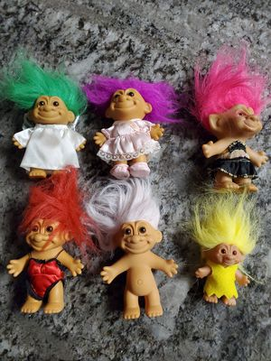 Lot of 6 vintage TROLLS DOLL all for $20 for Sale in Clovis, CA