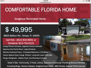 Renovated Manufactured Home for Sale in Tampa, FL