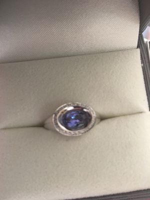 Beautiful Tanzanite Diamond 14kt white gold ring for Sale in Galena, IL
